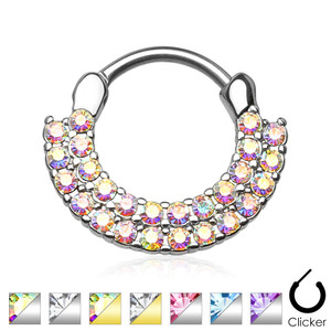 2 Row Ring of Brilliance Septum Clicker