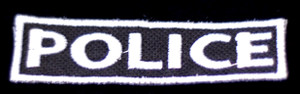 """Police Badge 3x1"""" Embroidered Patch"""
