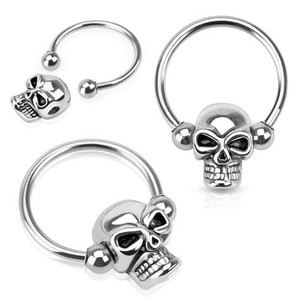 Skull Captive Bead Septum Clicker
