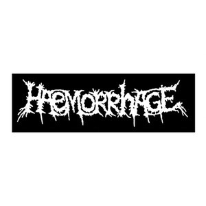 "Haemorrhage - Logo 10x4"" Printed Patch"
