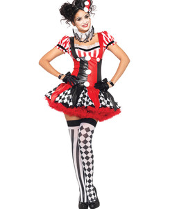 Harlequin Clown Halloween Costume