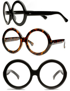 Oversized Round Thick Glasses