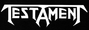 "Testament  Logo 9x4"" Printed Patch"