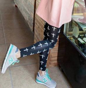 Black Cross Leggings