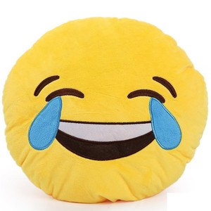 Emoji Pillow - Face with Tears of Joy