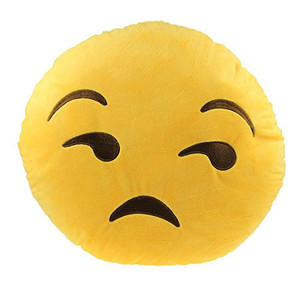 Emoji Pillow - Unamused