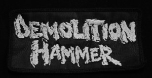 "Demolition Hammer Logo 4x2"" Embroidered Patch"
