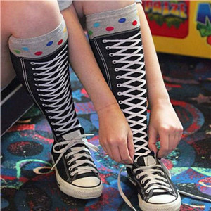 K. Bell - Hi Top Sneaker Knee High Socks
