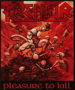 "Kreator - Pleasure to Kill 4x4.8"" Color Patch"