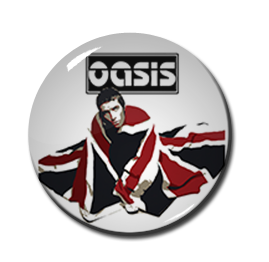 "Oasis - Liam Gallagher Flag1"" Pin"