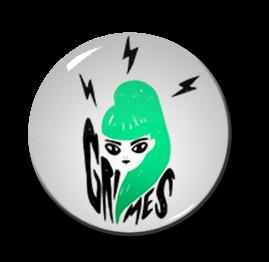 """Grimes - Claire Boucher 1"""" Pin"""