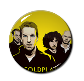 "Coldplay 1"" Pin"