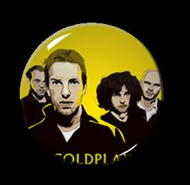 """Coldplay 1"""" Pin"""