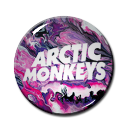 "Arctic Monkeys - Psychedelic 1"" Pin"