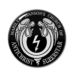 "Marilyn Manson's Church of Antichrist Superstar 1"" Pin"