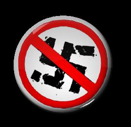 """Anti-Nazi 1"""" Pin"""