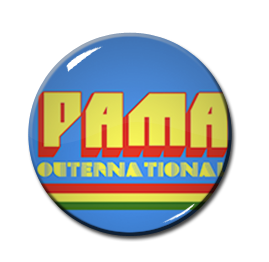 "Pama Outernational 1"" Pin"