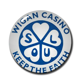 "Wigan Casino - Keep the Faith 1"" Pin"