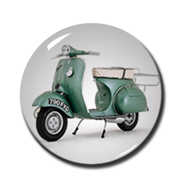"Green Vespa 1"" Pin"