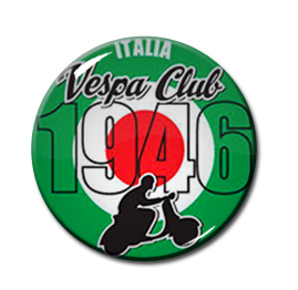 "Vespa Club 1"" Pin"