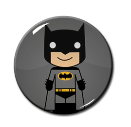 "Chibi Batman 1.5"" Pin"
