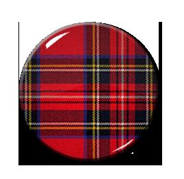 """Red Tartan 1.5"""" Pin"""