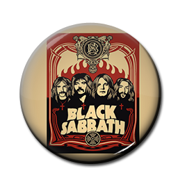 "Black Sabbath - Poster 1"" Pin"