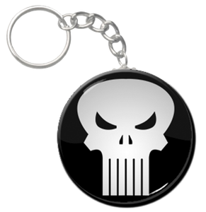 "The Punisher Logo 1.5"" Keychain"