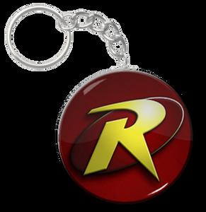 """Robin Logo 1.5"""" Keychain"""
