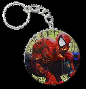 """Zombie Spiderman Cobweb 1.5"""" Keychain"""