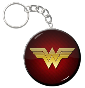 "Wonder Woman Logo 1.5"" Keychain"