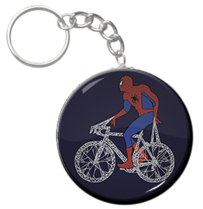 "Spiderman Bicycle 1.5"" Keychain"