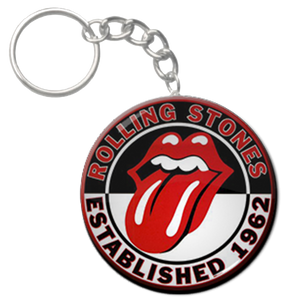 "Rolling Stones 1.5"" Keychain"