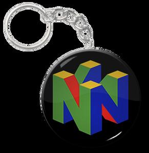 "Nintendo 64 1.5"" Keychain"