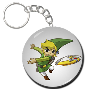 "Link with  Boomerang 1.5"" Keychain"