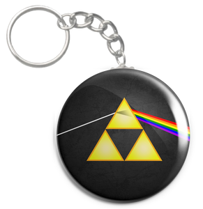 "The Dark Side of the Triforce 1.5"" Keychain"