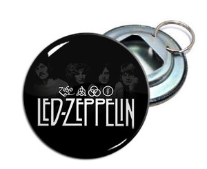 "Led Zeppelin 2.25"" Metal Bottle Opener Keychain"