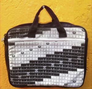 Black and White Block Print Laptop Carrier Bag