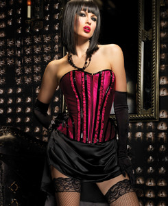 Red Betty Corset with Support Boning