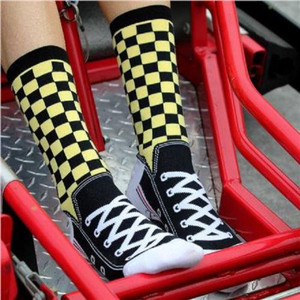 K. Bell - Women's Checker Sneaker Socks