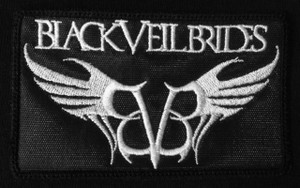"Black Veil Brides Wings Logo 4x2.5"" Embroidered Patch"