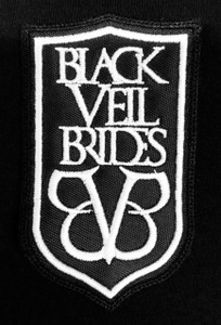 """Black Veil Brides Coat of Arms Logo 5x3"""" Embroidered Patch"""