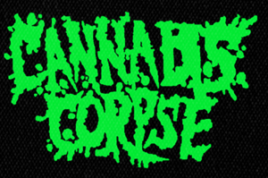 "Cannabis Corpse Green Logo 5x4"" Printed Patch"