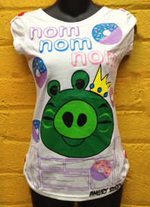 Angry Birds King Pig Nom Nom Nom White Blouse Girls **Medium**