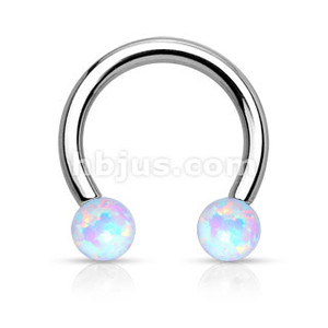 Synthetic Opal Horseshoe