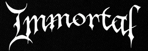 "Immortal New Logo 7x3"" Printed Patch"