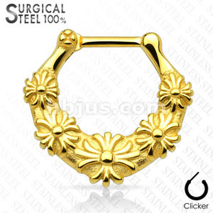 Floral All Septum Clicker
