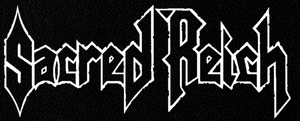 """Sacred Reich - Logo 6x3"""" Printed Patch"""