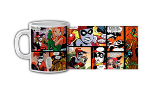 Harley Quinn & Poison Ivy Comic Strip Coffee Mug