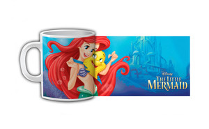 The Little Mermaid Flounder and Ariel Coffee Mug